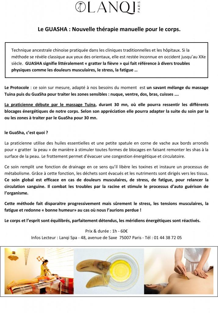 Lanqi Spa Nouveau - Le Guasha